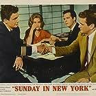 Jane Fonda, Rod Taylor, Robert Culp, and Cliff Robertson in Sunday in New York (1963)