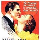 Myrna Loy and Warner Baxter in Broadway Bill (1934)