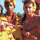Chus Lampreave, Soledad Mallol, and Elena Martín in Miss Caribe (1988)