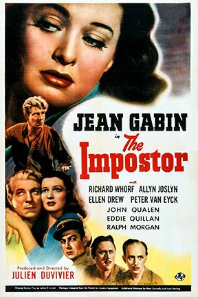 Ellen Drew, Jean Gabin, Allyn Joslyn, Peter van Eyck, and Richard Whorf in The Impostor (1944)