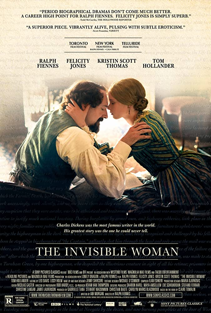 Ralph Fiennes and Felicity Jones in The Invisible Woman (2013)