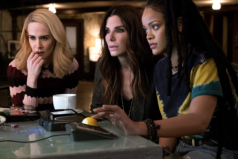 Sandra Bullock, Sarah Paulson, and Rihanna in Ocean's 8 (2018)