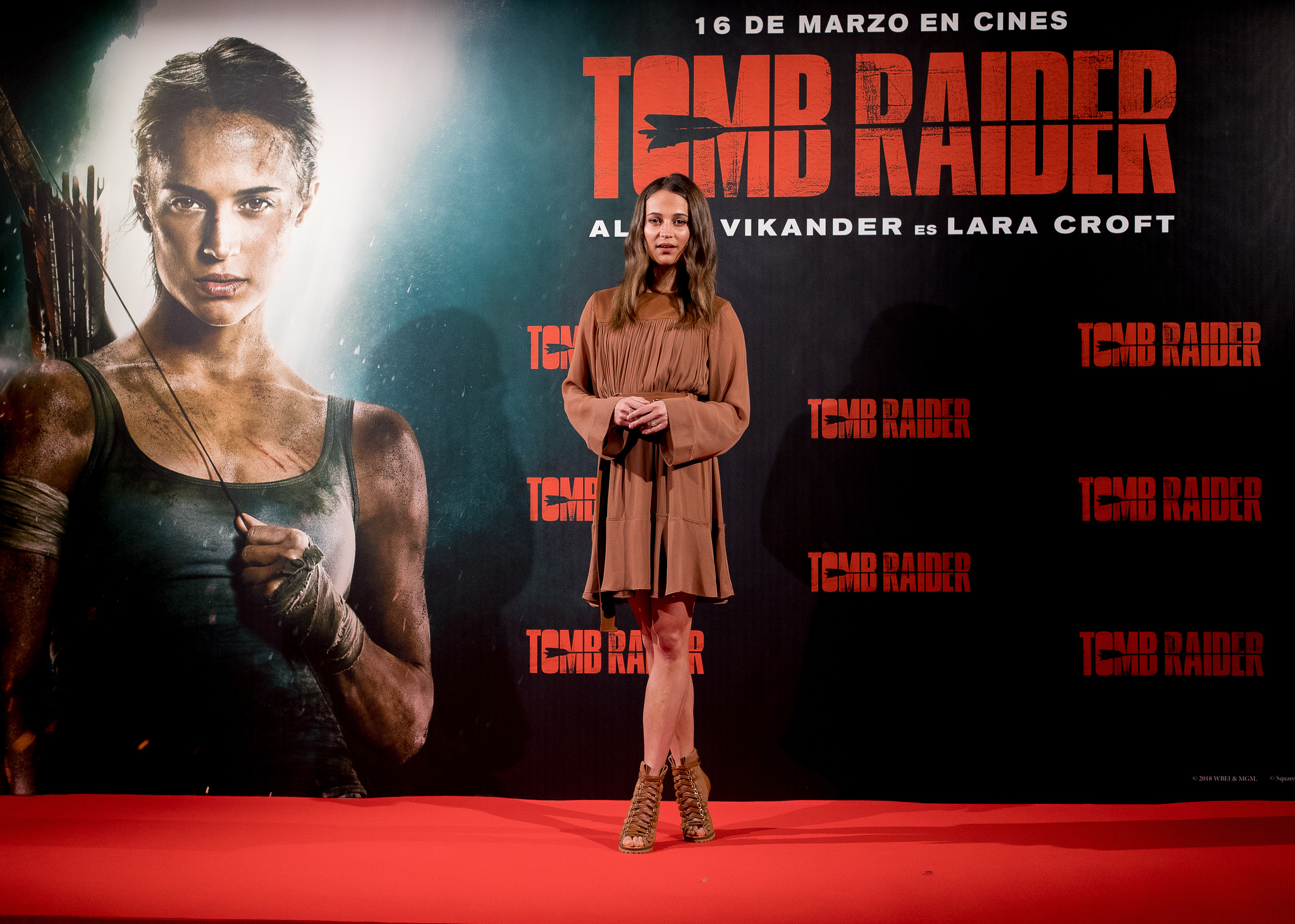 Alicia Vikander at an event for Tomb Raider (2018)