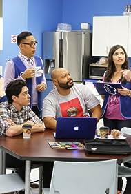 Mark McKinney, America Ferrera, Ben Feldman, Colton Dunn, Lauren Ash, and Nico Santos in Superstore (2015)
