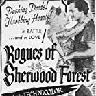 John Derek, Alan Hale, Diana Lynn, and George Macready in Rogues of Sherwood Forest (1950)