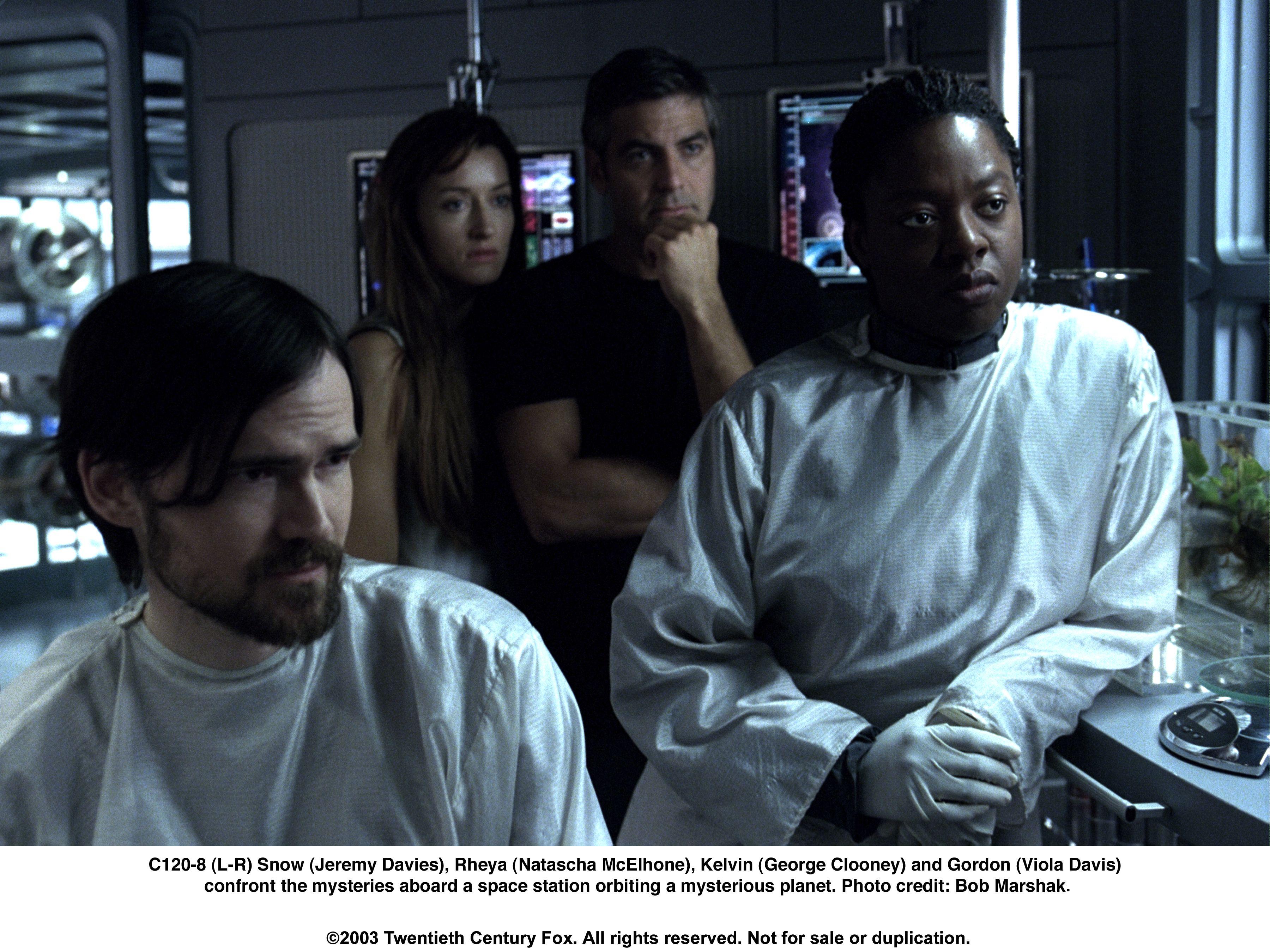 George Clooney, Jeremy Davies, Natascha McElhone, and Viola Davis in Solaris (2002)