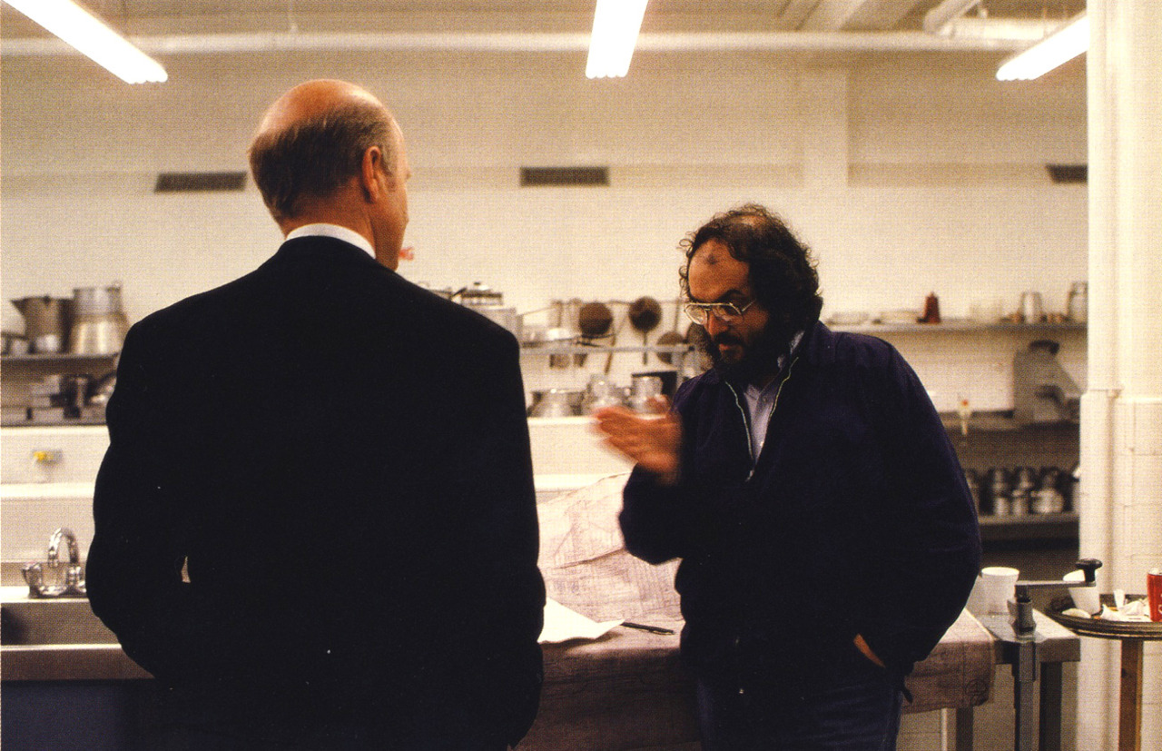 Stanley Kubrick and Philip Stone in The Shining (1980)