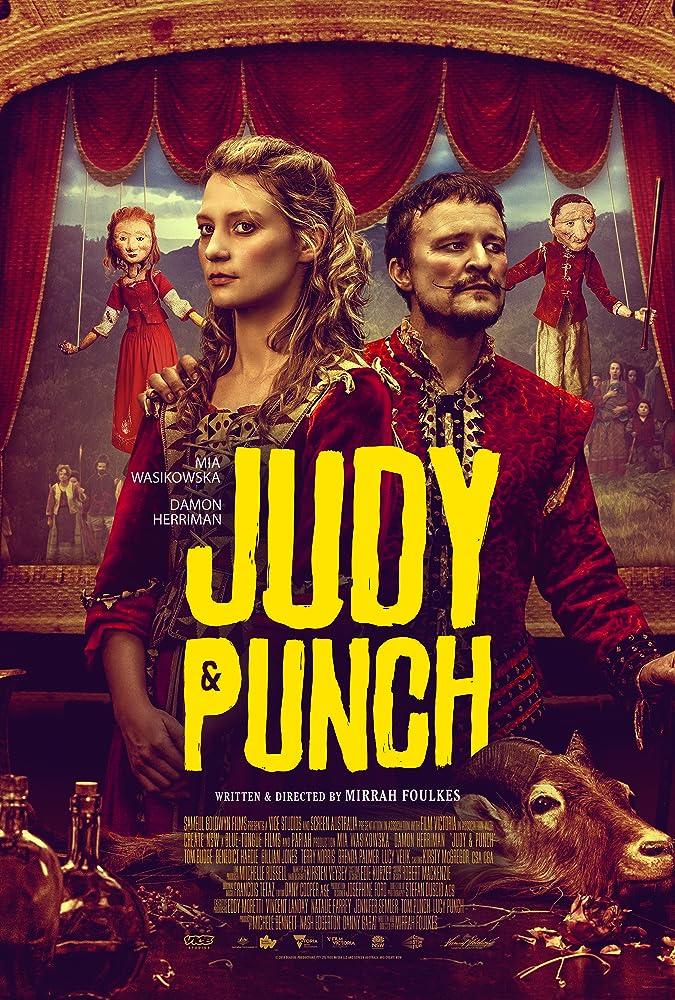 Damon Herriman and Mia Wasikowska in Judy & Punch (2019)