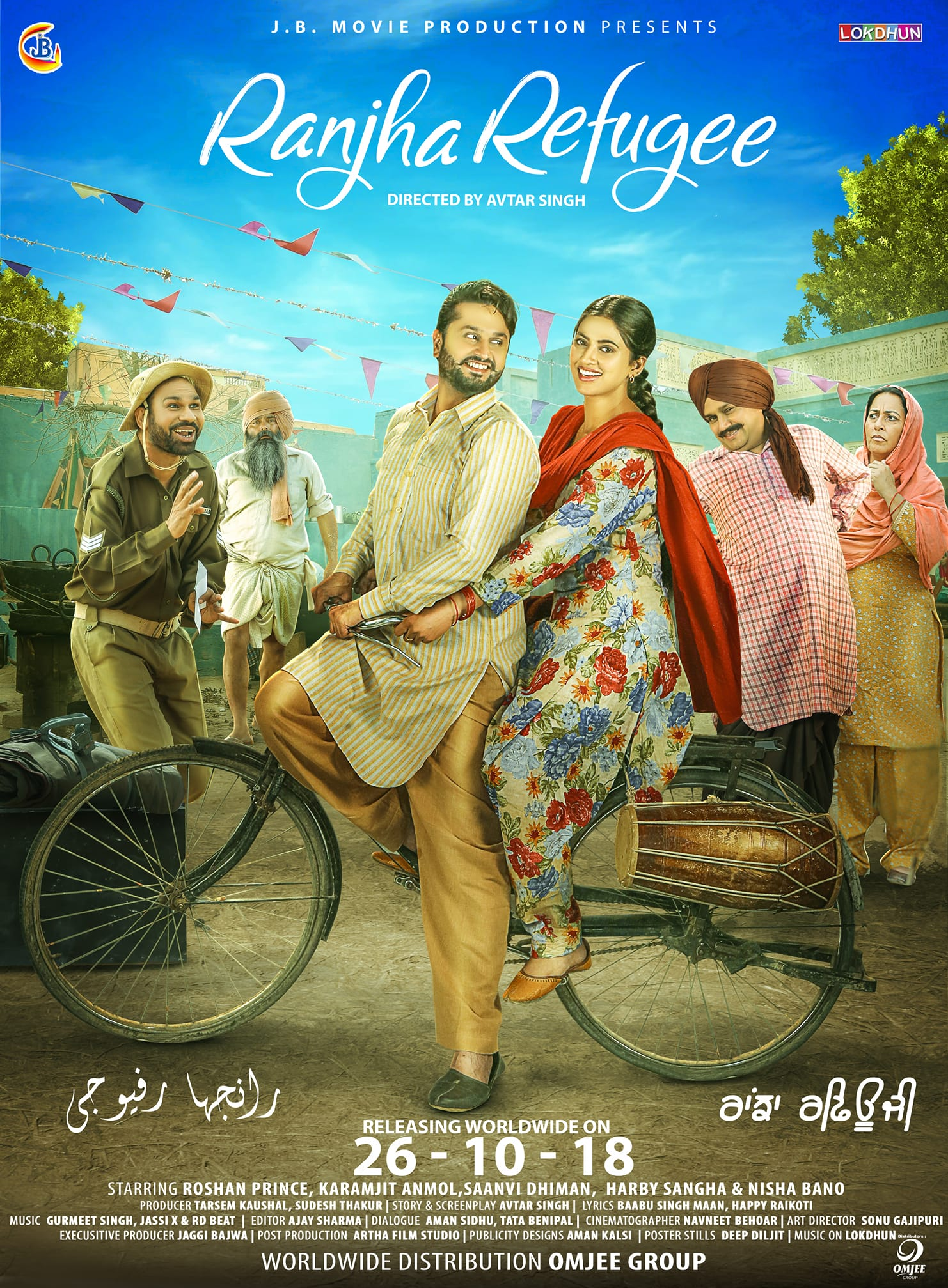 Ranjha Refugee (2018) Punjabi Movie 720p HDRip x264 ESubs 1.1GB