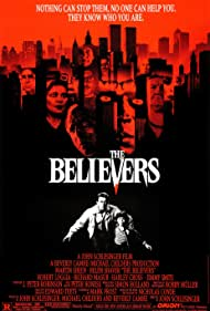 Martin Sheen, Helen Shaver, Malick Bowens, Harley Cross, Lee Richardson, Elizabeth Wilson, and Harris Yulin in The Believers (1987)