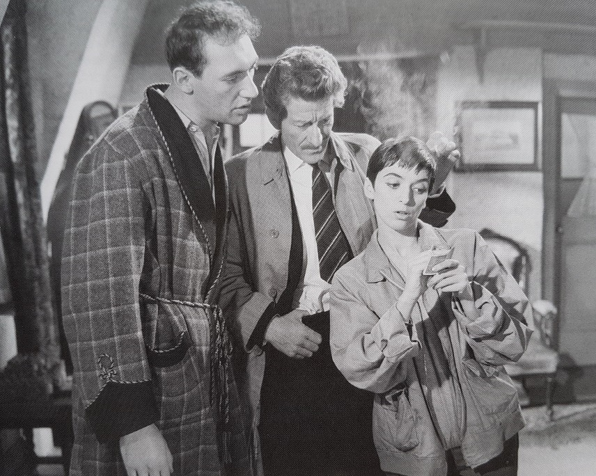 Bernard Bresslaw, Jean Muir, and Jon Pertwee in The Ugly Duckling (1959)
