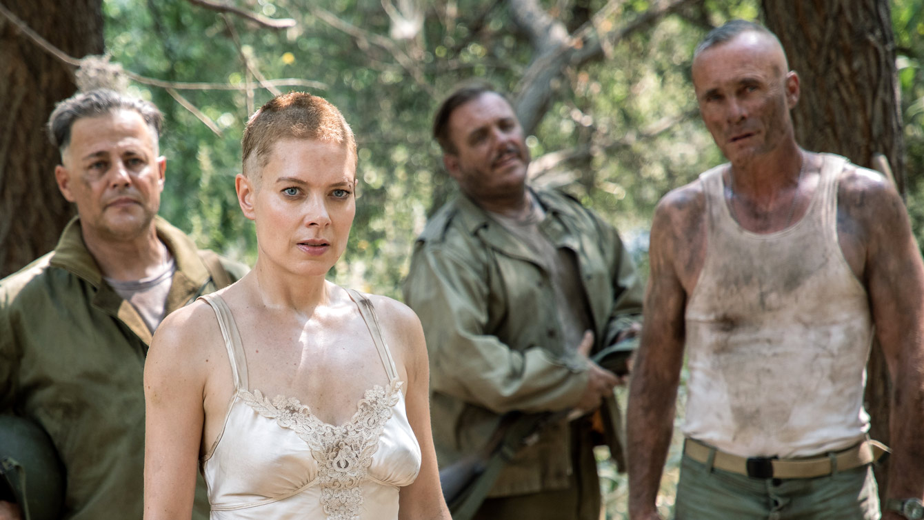 Louis Mandylor and Nina Bergman in Hell Hath No Fury (2021)