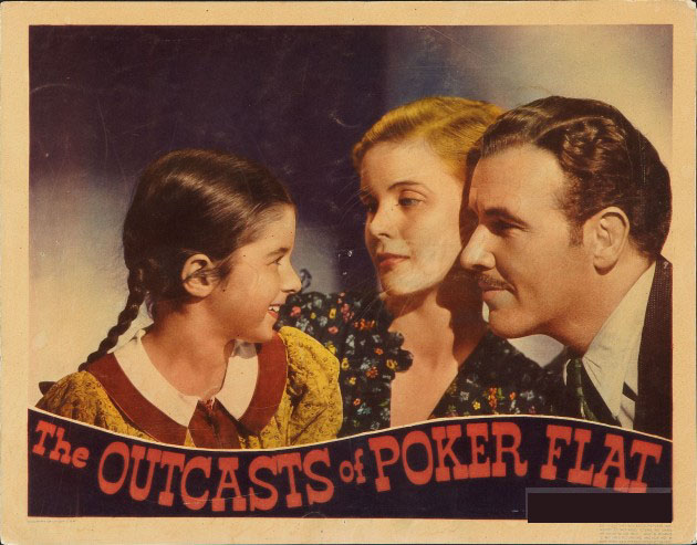 Preston Foster, Jean Muir, and Virginia Weidler in The Outcasts of Poker Flat (1937)