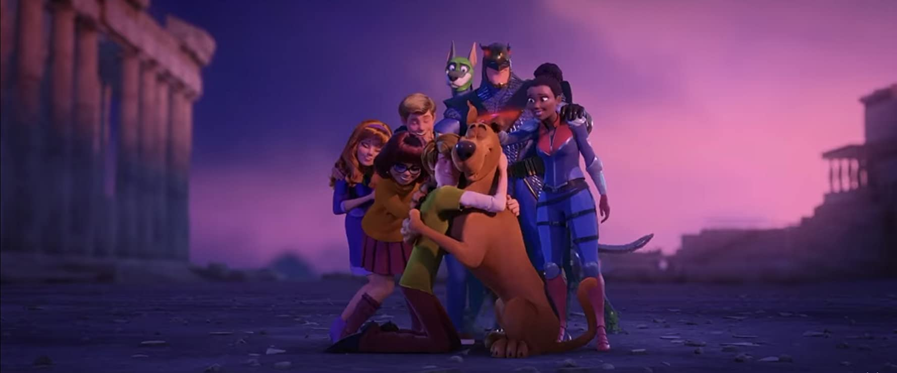 Mark Wahlberg, Jason Isaacs, Will Forte, Ken Jeong, Frank Welker, Amanda Seyfried, Zac Efron, Gina Rodriguez, and Kiersey Clemons in Scoob! (2020)