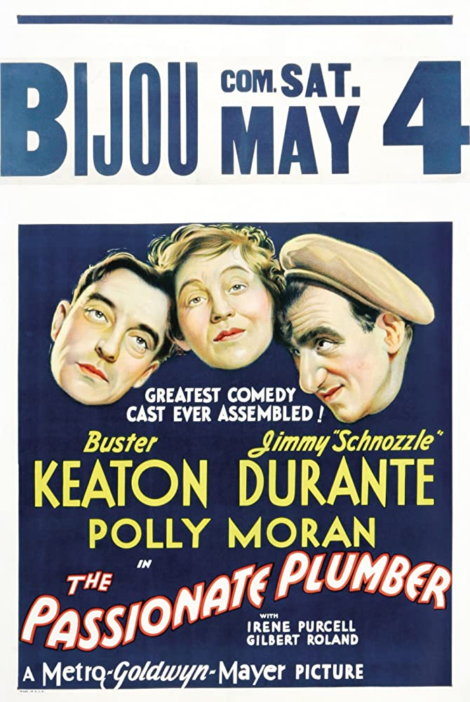 Buster Keaton, Jimmy Durante, and Polly Moran in The Passionate Plumber (1932)
