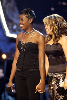 Diana DeGarmo and Fantasia Barrino at an event for American Idol: The Search for a Superstar (2002)