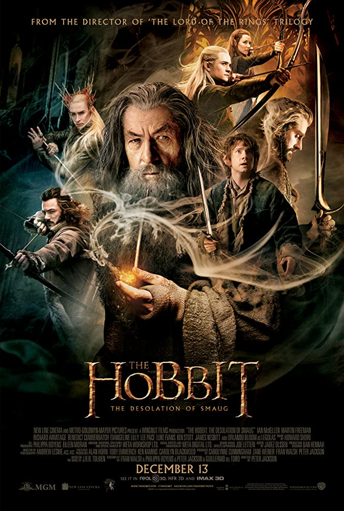 Ian McKellen, Richard Armitage, Orlando Bloom, Martin Freeman, Lee Pace, Evangeline Lilly, and Luke Evans in The Hobbit: The Desolation of Smaug (2013)