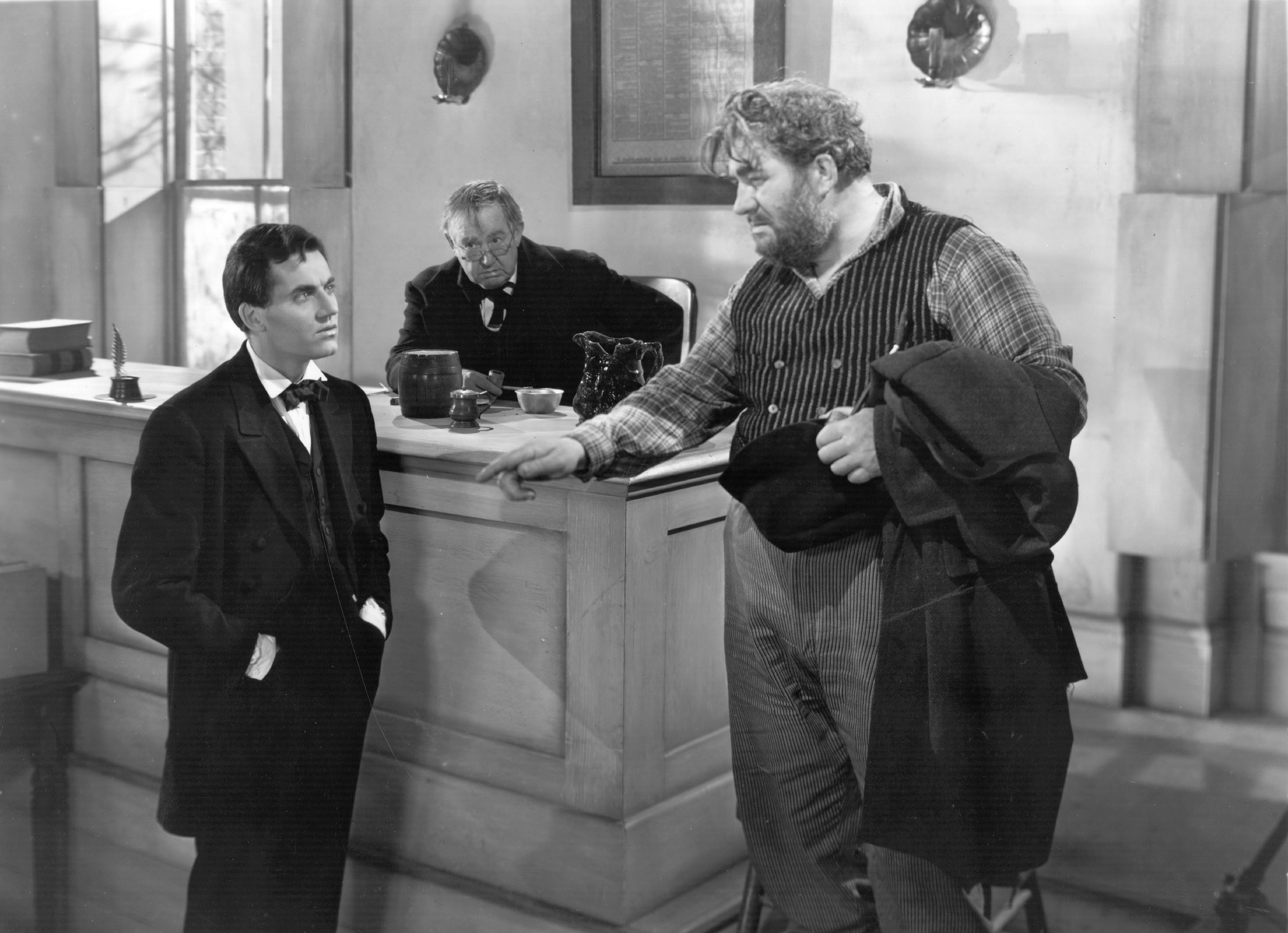 Henry Fonda, Spencer Charters, and Harold Goodwin in Young Mr. Lincoln (1939)