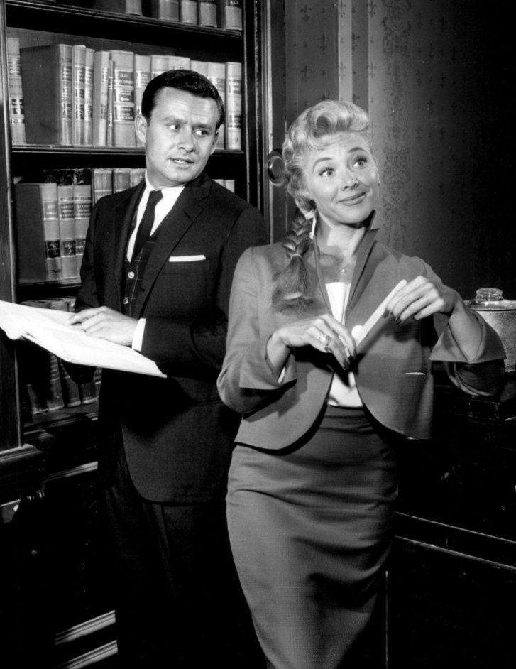 Georgine Darcy and Roger Perry in Harrigan and Son (1960)