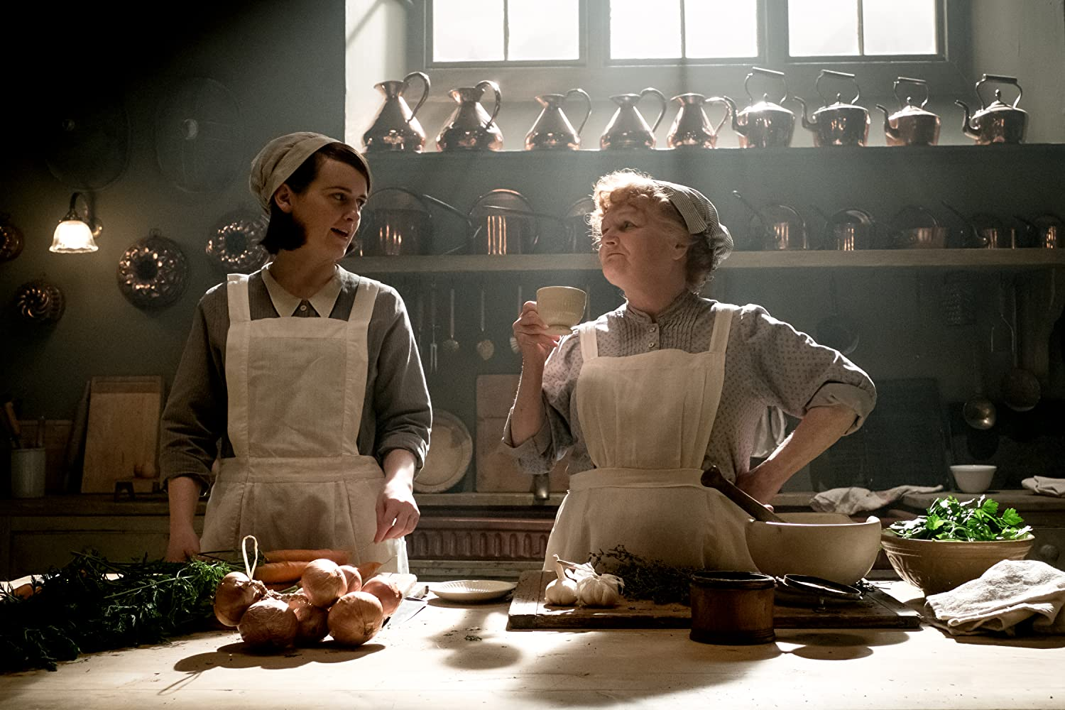 Lesley Nicol and Sophie McShera in Downton Abbey (2019)