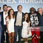 'Alex & Me' Premiere LOS ANGELES, CA - MAY 31: (L-R) Actors Matt Cornett, Andrew Rush, professional soccer player Alex Morgan, actors Jim Klock, Siena Agudong, James Moses Black and writer/director Eric Champnella attend the premiere of 'Alex & Me' at the DGA Theater on May 31, 2018 in Los Angeles, California