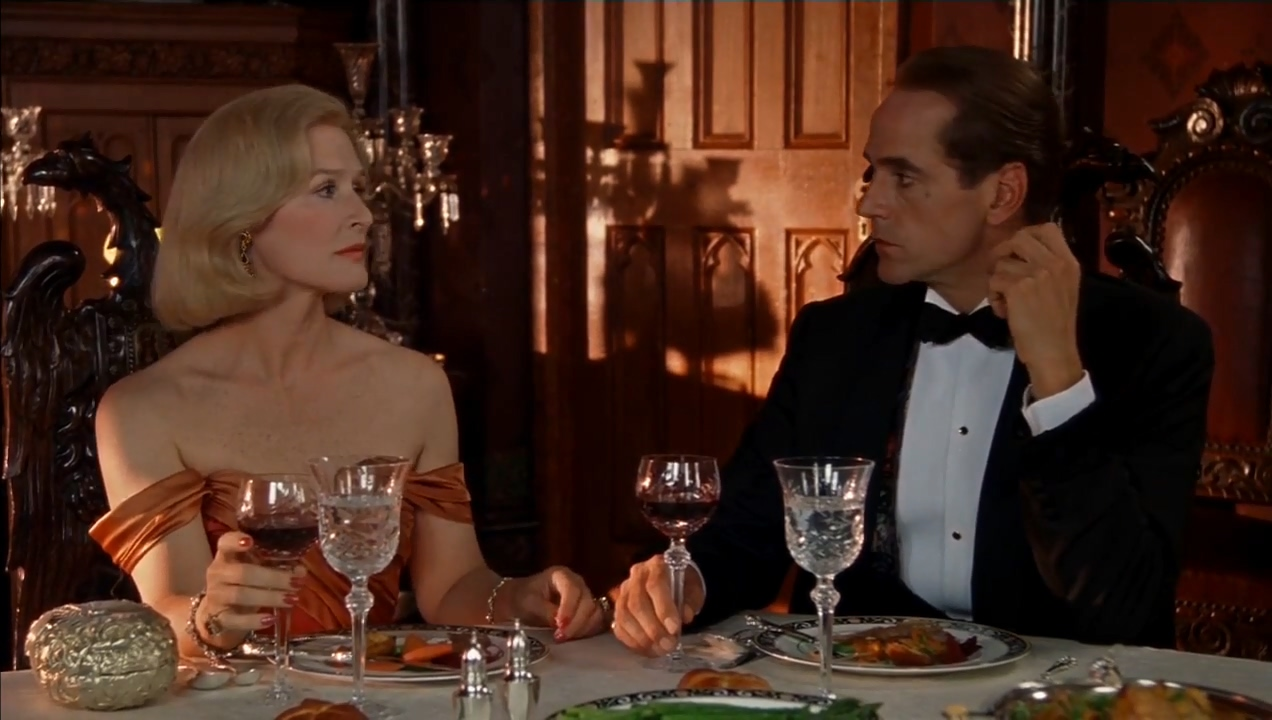 Glenn Close and Jeremy Irons in Reversal of Fortune (1990)