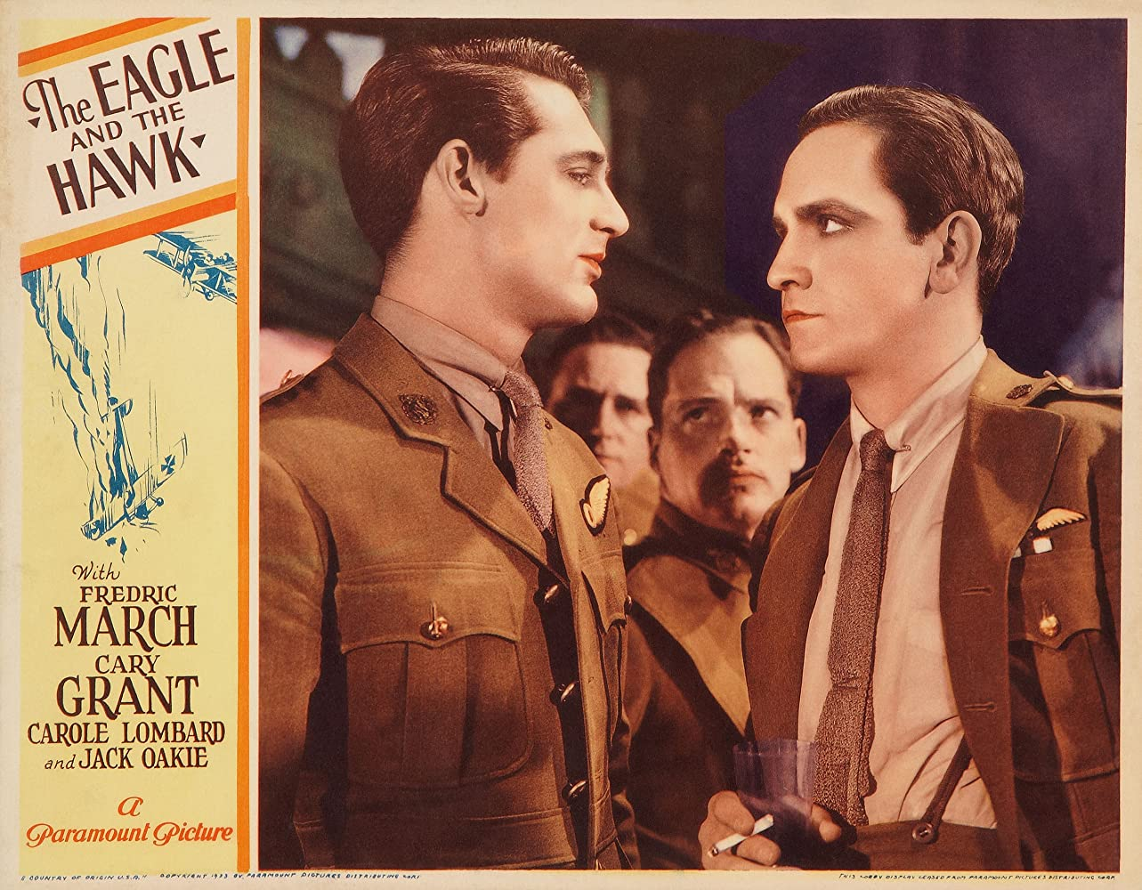 Cary Grant and Fredric March in The Eagle and the Hawk (1933)