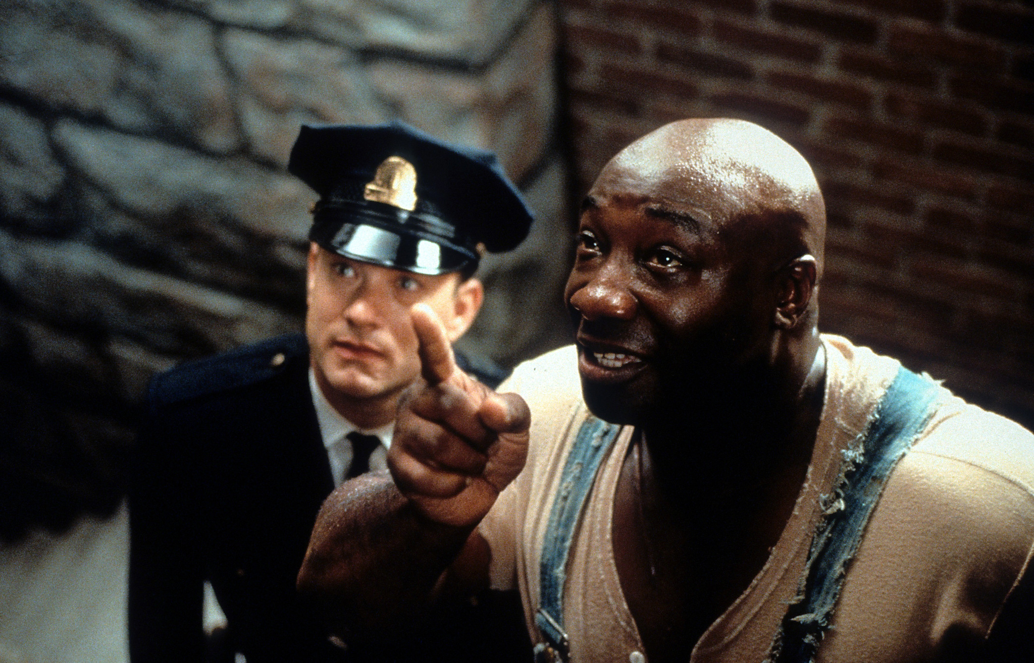 Tom Hanks and Michael Clarke Duncan in The Green Mile (1999)