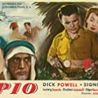 Edgar Barrier, Ludwig Donath, Signe Hasso, and Dick Powell in To the Ends of the Earth (1948)