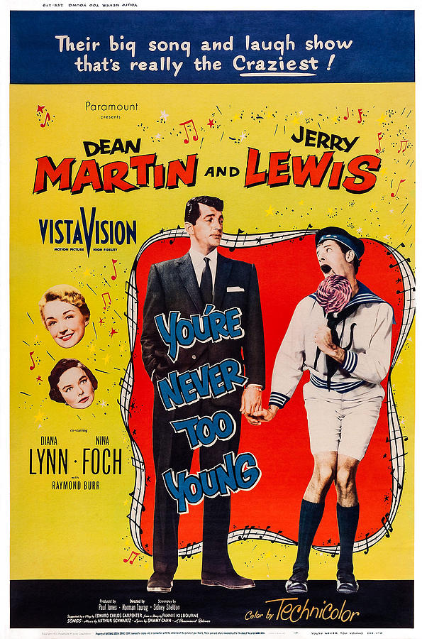 Jerry Lewis and Dean Martin in You're Never Too Young (1955)