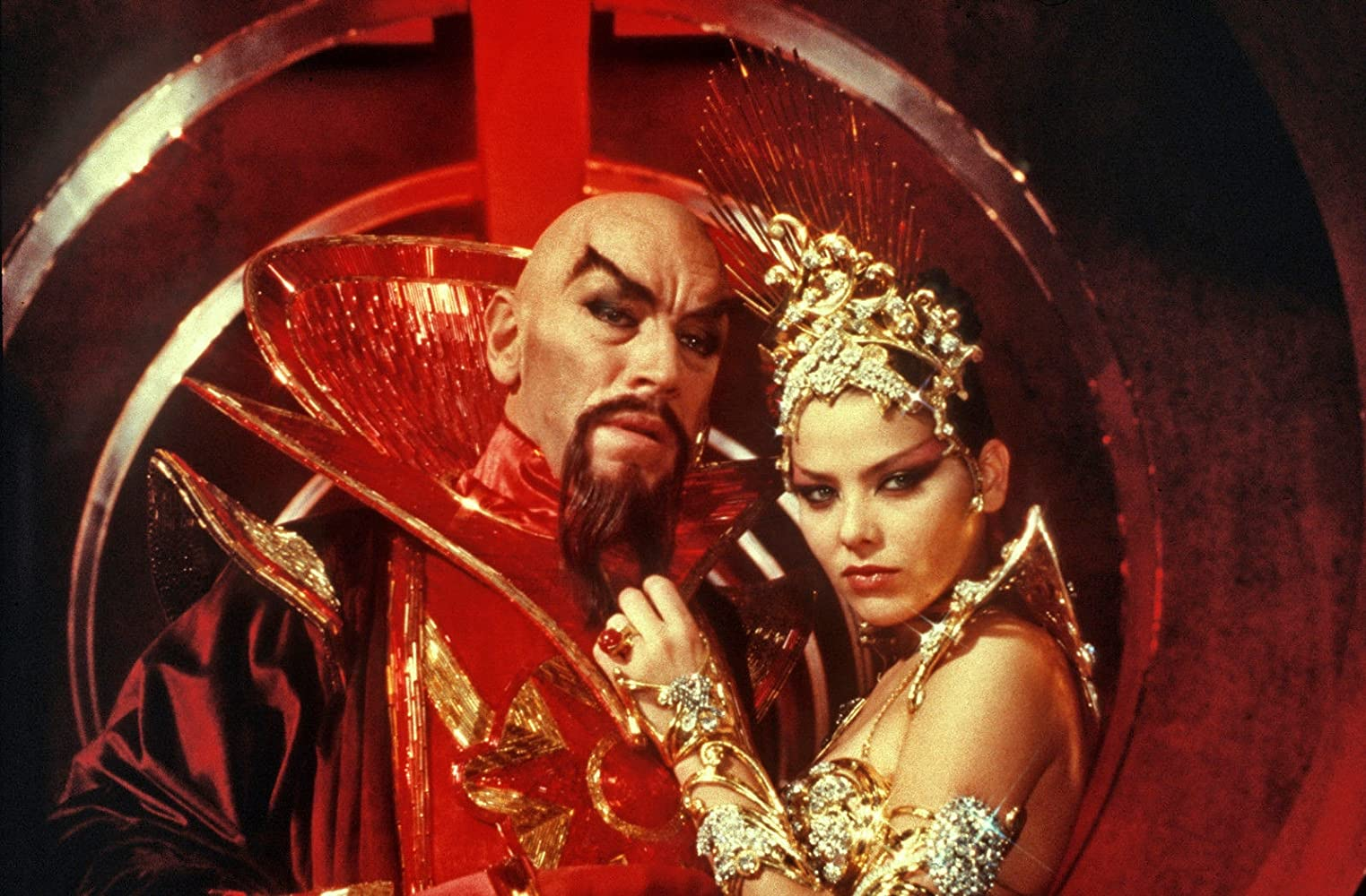 Ornella Muti and Max von Sydow in Flash Gordon (1980)