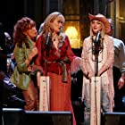 Meryl Streep, Lily Tomlin, Garrison Keillor, Lindsay Lohan, and Prairie in A Prairie Home Companion (2006)