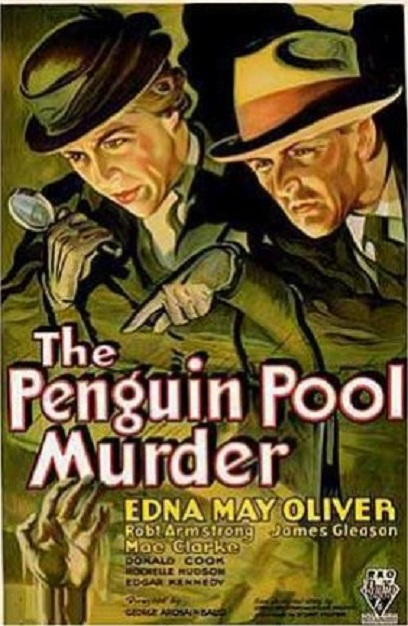James Gleason and Edna May Oliver in Penguin Pool Murder (1932)