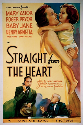 Mary Astor, Roger Pryor, and Juanita Quigley in Straight from the Heart (1935)