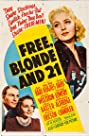 Free, Blonde and 21 (1940) Poster