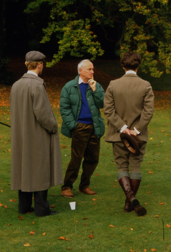 Hugh Grant, James Ivory, and James Wilby in Maurice (1987)