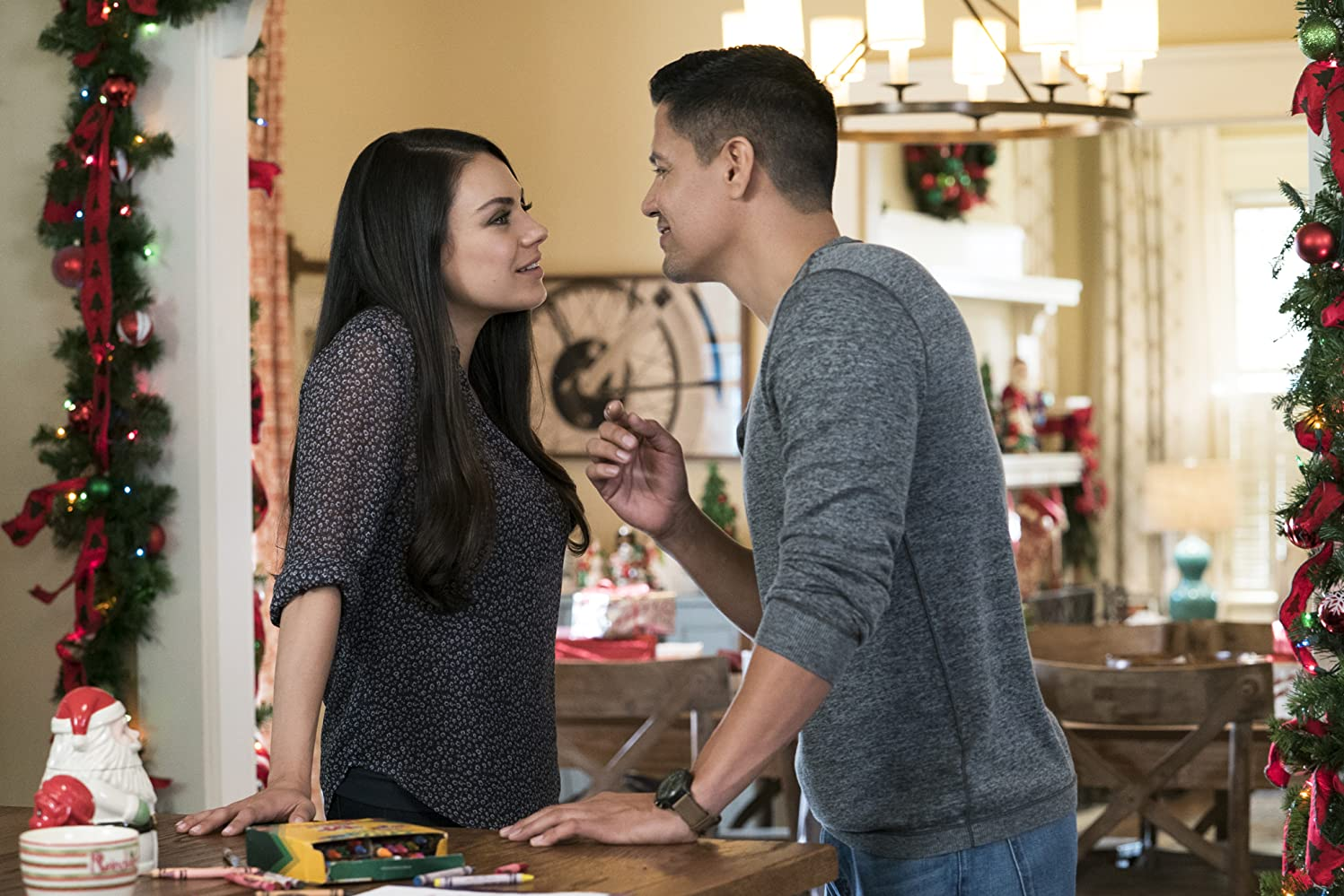 Mila Kunis and Jay Hernandez in A Bad Moms Christmas (2017)