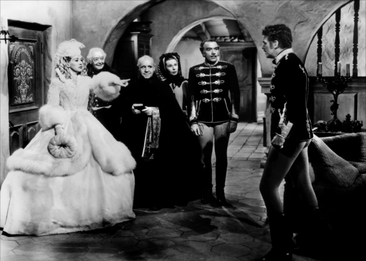 Douglas Fairbanks Jr., Betty Grable, Cesar Romero, and Harry Davenport in That Lady in Ermine (1948)