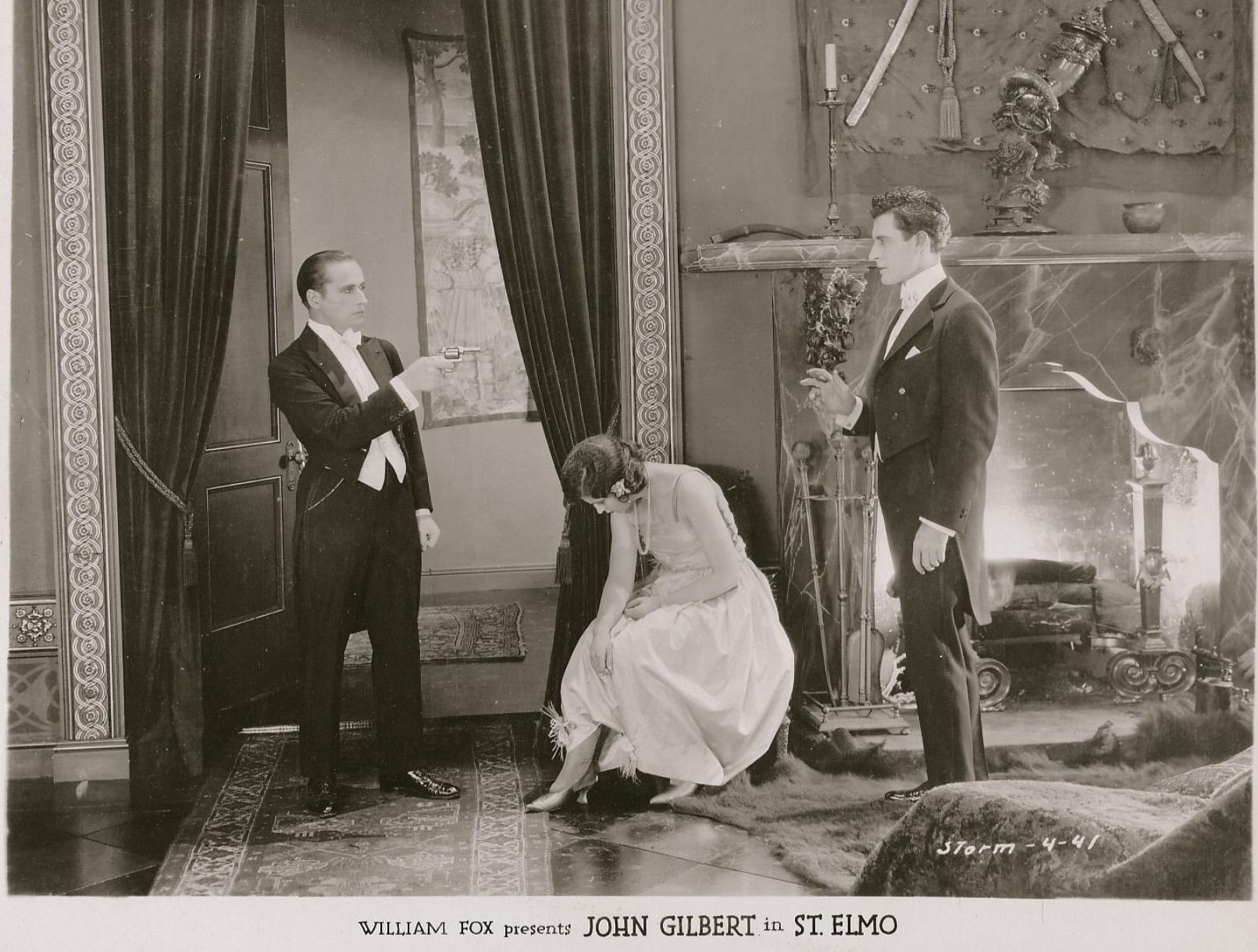 Warner Baxter, John Gilbert, and Barbara La Marr in St. Elmo (1923)