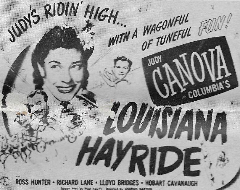 Judy Canova, Ross Hunter, and Richard Lane in Louisiana Hayride (1944)