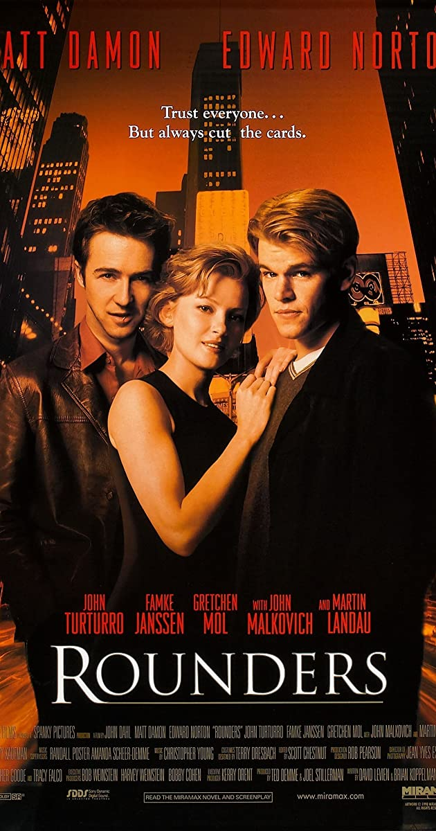 Rounders 1998 Full Cast Crew Imdb