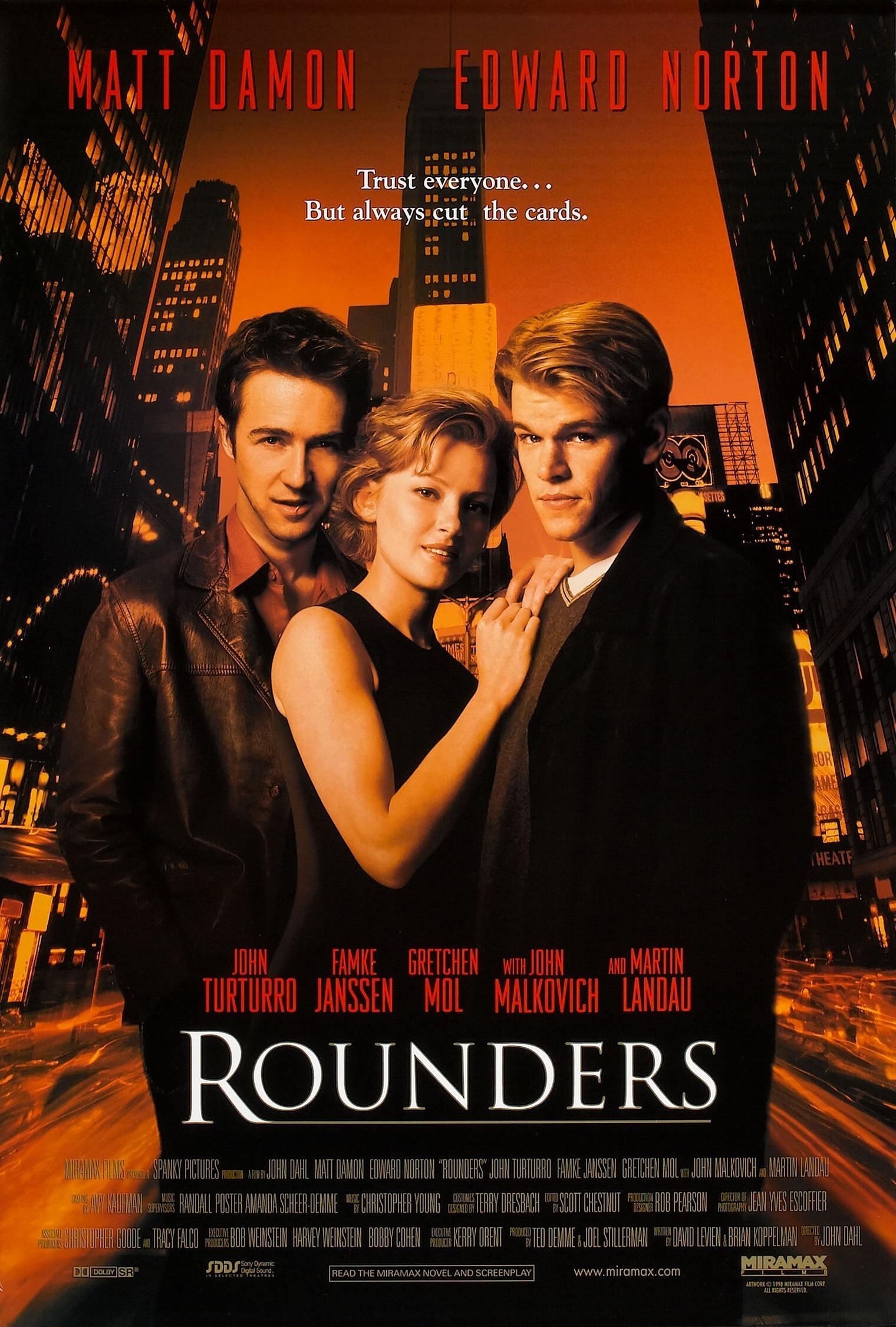 Rounders (1998) BluRay 480p, 720p & 1080p