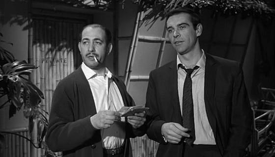 Sean Connery and Alfred Marks in The Frightened City (1961)