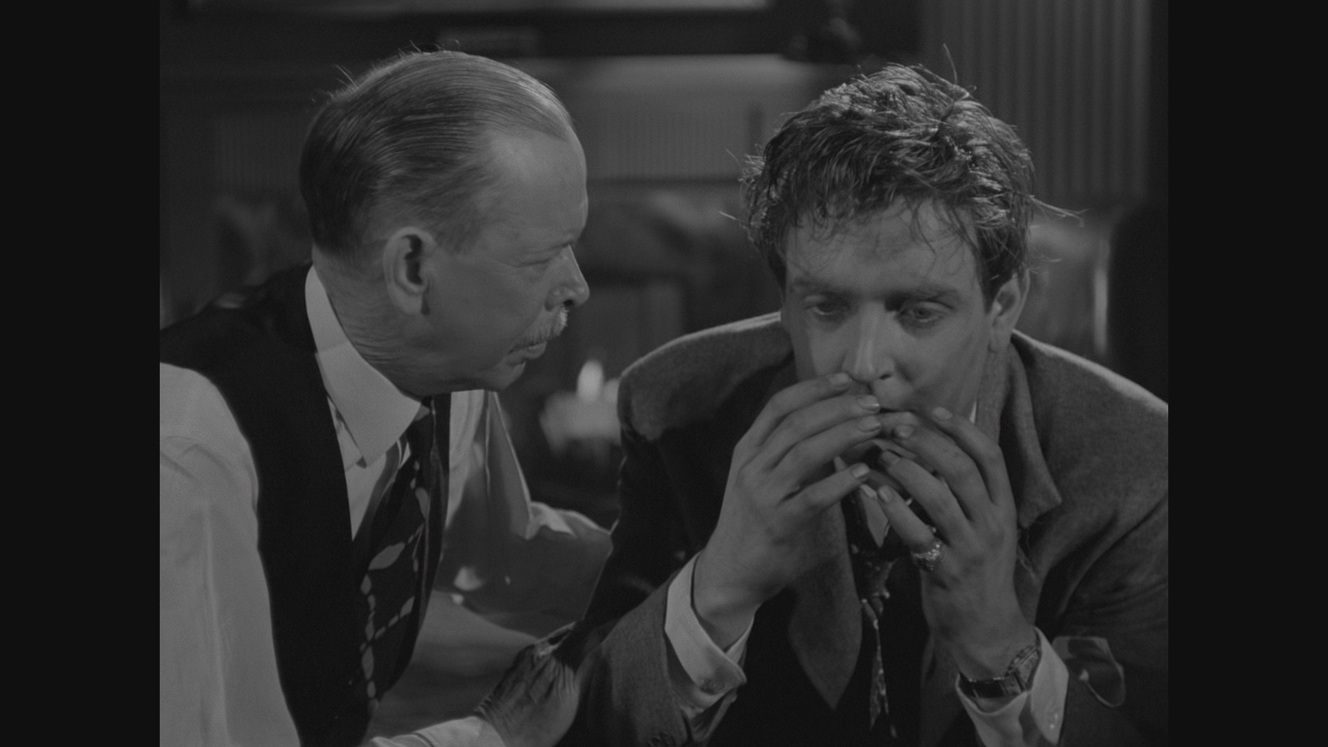 Frank Craven and Robert Paige in Son of Dracula (1943)