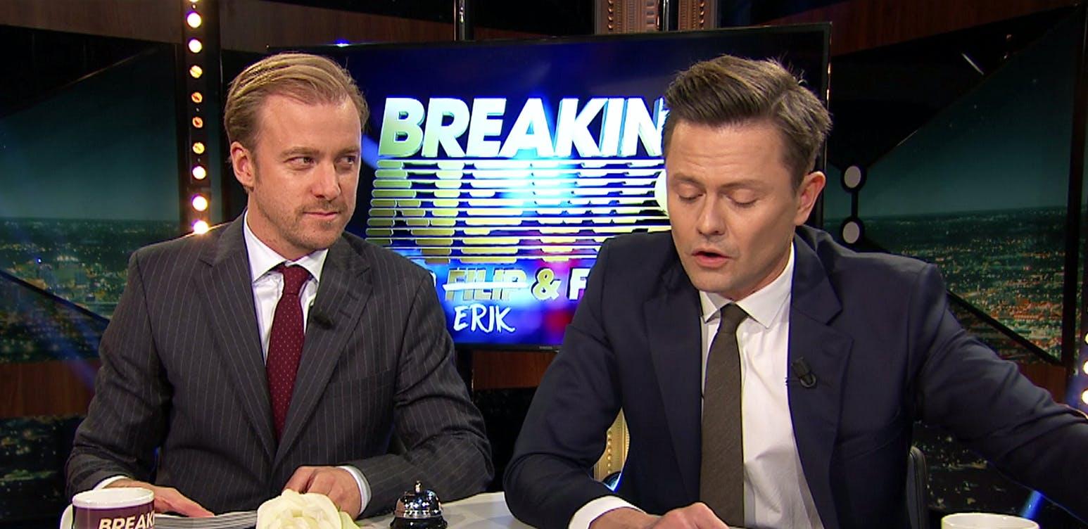 Erik Johansson and Fredrik Wikingsson in Breaking News med Filip och Fredrik (2011)