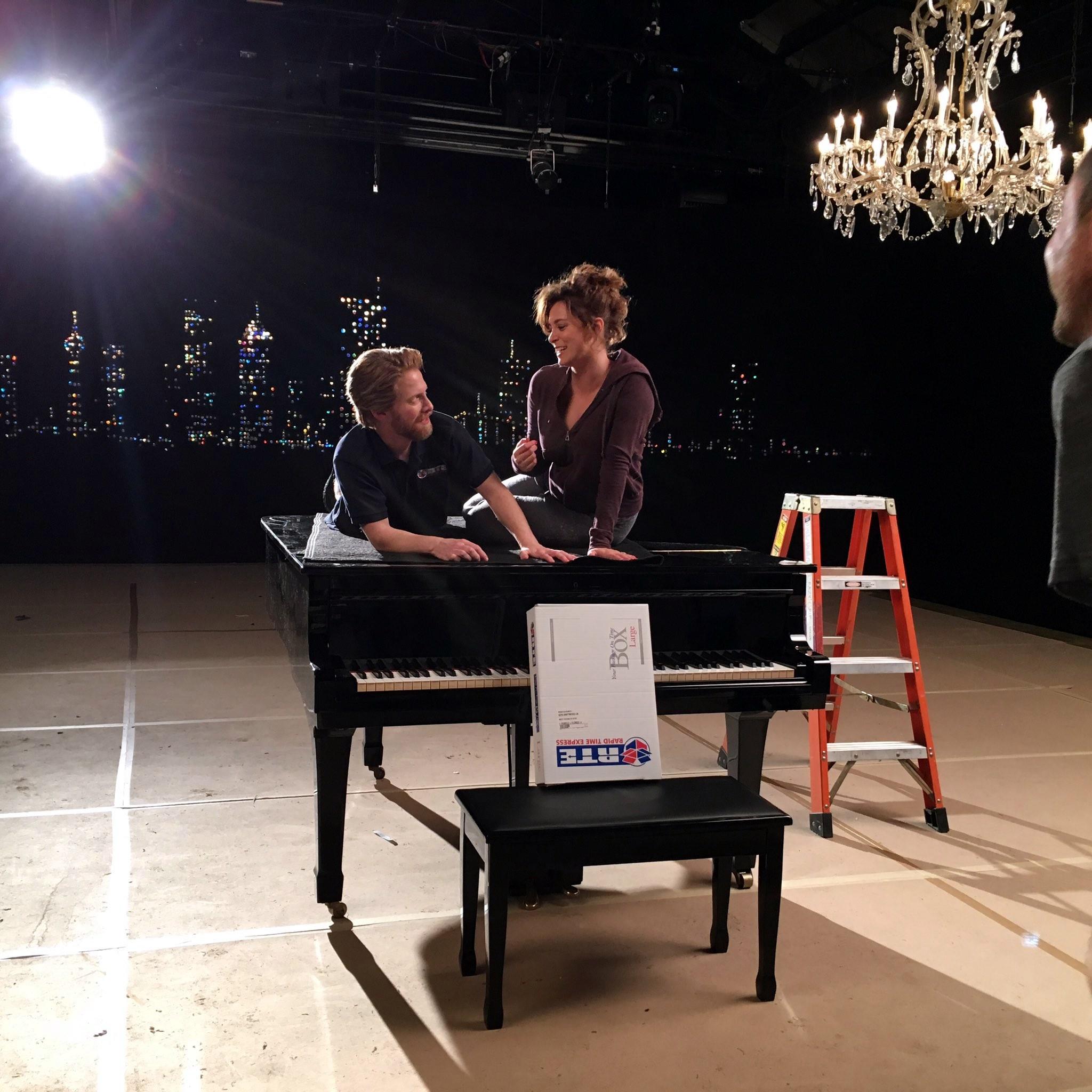 Seth Green and Rachel Bloom in Crazy Ex-Girlfriend (2015)