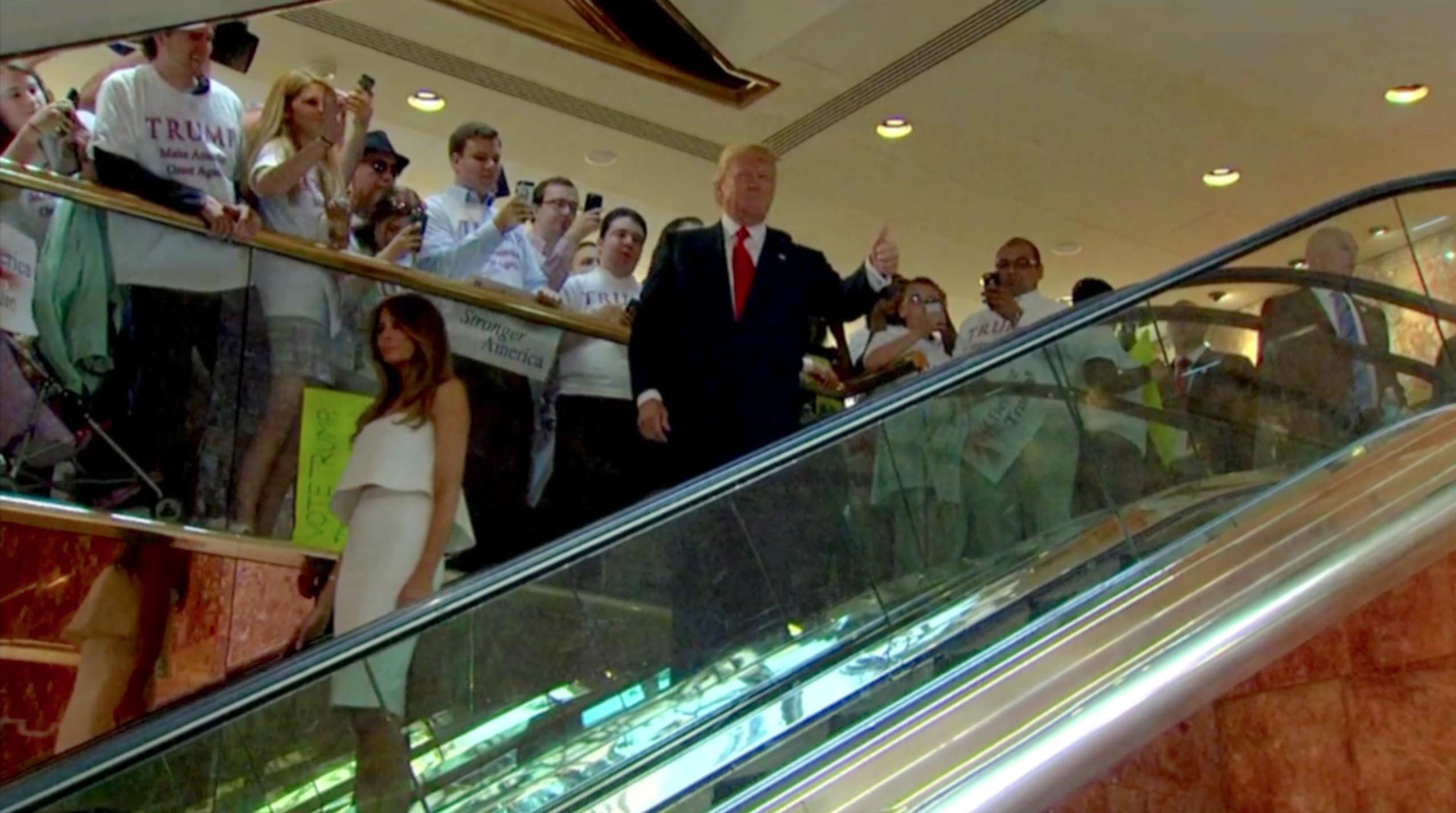 Donald Trump and Melania Trump in Trump: An American Dream (2017)