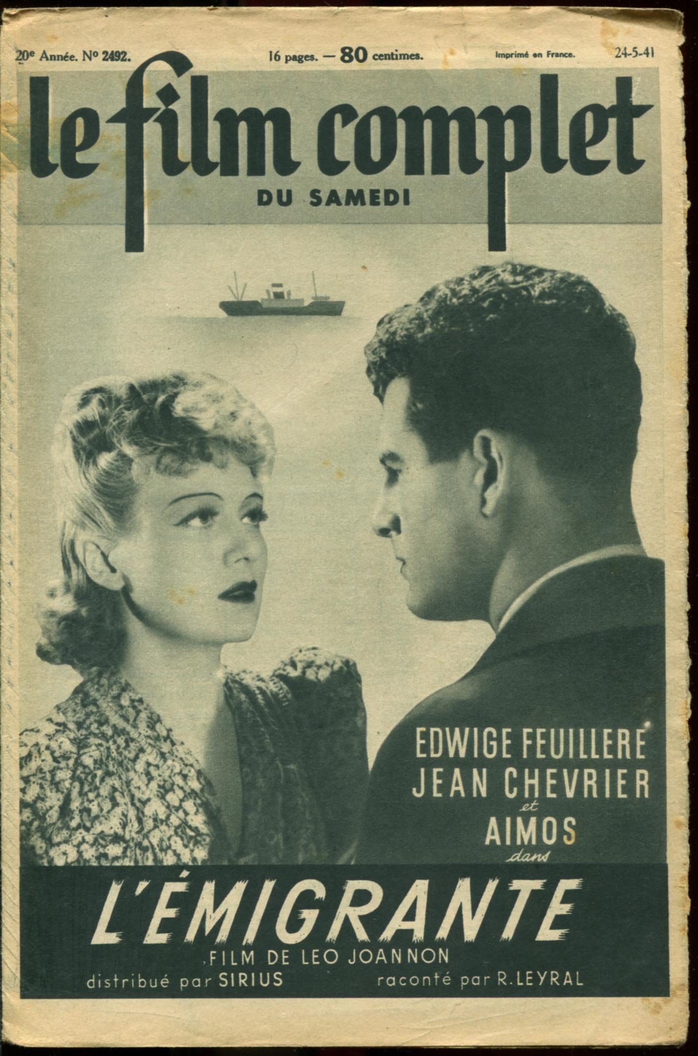 Jean Chevrier and Edwige Feuillère in L'émigrante (1940)