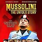 Gabriel Byrne, Robert Downey Jr., Raul Julia, Virginia Madsen, Mary Elizabeth Mastrantonio, George C. Scott, and Lee Grant in Mussolini: The Untold Story (1985)