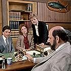 Angela Lansbury, Herschel Bernardi, Linda Kelsey, and Mark Shera in Murder, She Wrote (1984)